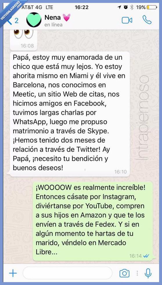 conversación,internet,padre,whatsapp