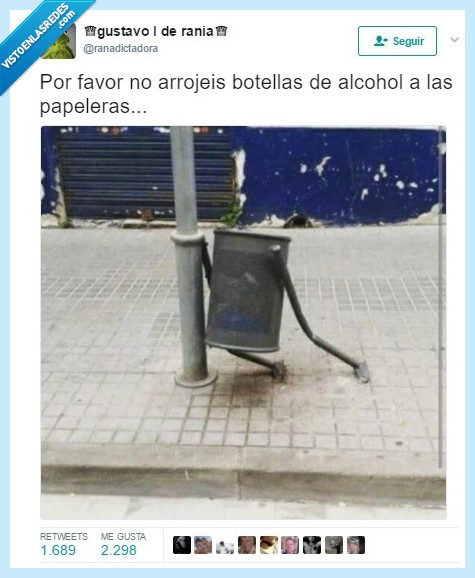 alcohol,botellas,papelera