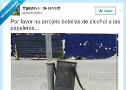 Enlace a La papelera borracha, por @ranadictadora