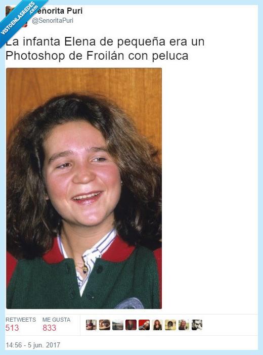 elena,infanta,peluca,photoshop
