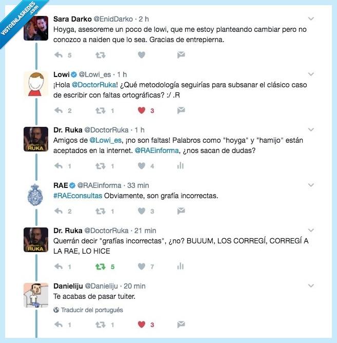 RAE,troleo,Twitter
