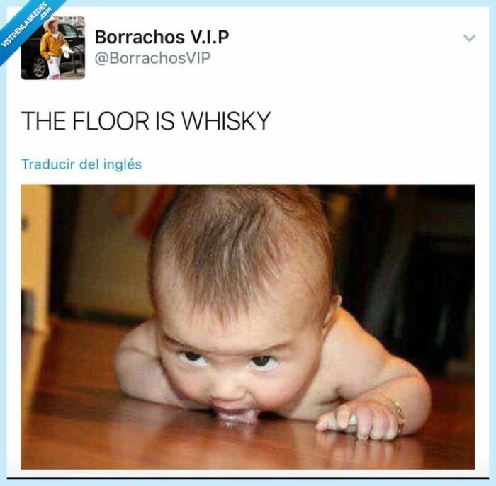 bebe,floor,whisky