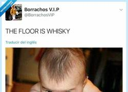Enlace a The floor is whisky, por @Borrachosvip