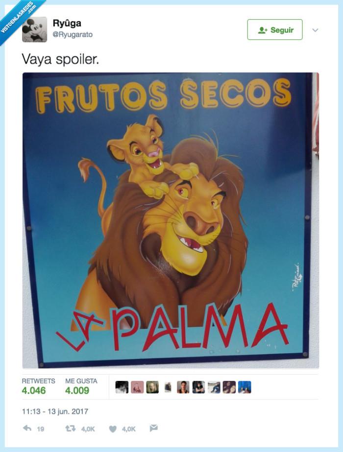 frutos secos,palma,rey leon