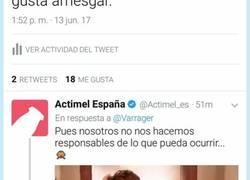 Enlace a El CM de Actimel se convierte en líder supremo de los zascas al contestarle así a un usuario