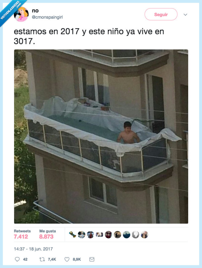 casera,niño,piscina