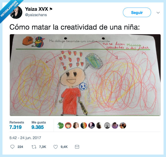 creatividad,matar,niña