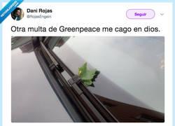 Enlace a Greenpeace y su extraña manera de multar, por @RojasEngein