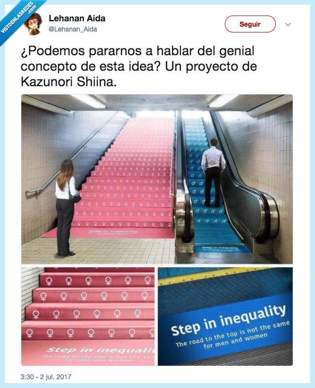 escaleras,igualdad