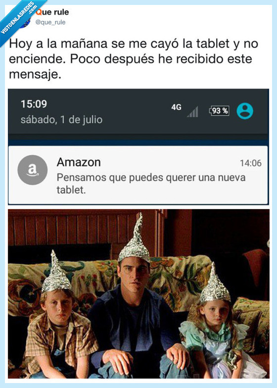 amazon,mensaje,tablet