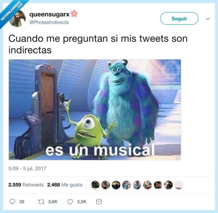 indirectas,musical,tweets