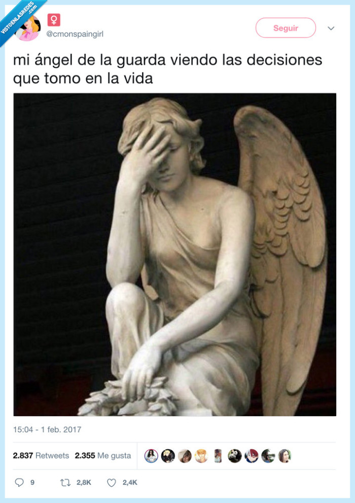 angel de la guarda,facepalm