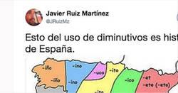 Enlace a El mapa de los diminutivos en España saca chispas en Twitter, ¿se dice así en tu zona?