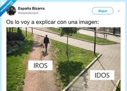 Enlace a Idos e iros, por @espanabizarra