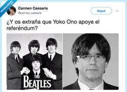 Enlace a Yoko Ono y su obsesión por separar cosas, por @carmen_caesaris