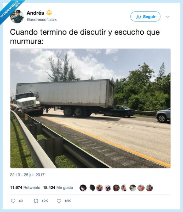 bajini,camión,discutir