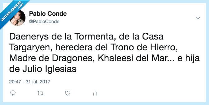 juego de tronos,julio iglesias