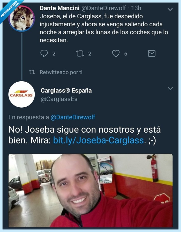 Carglass,CM,Joseba,Twitter