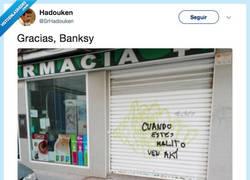 Enlace a Bansky y sus grafittis sociales, por @SrHadouken