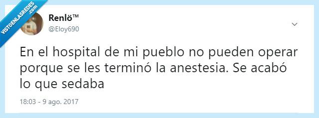 anestesia,chiste,hospital,sanidad