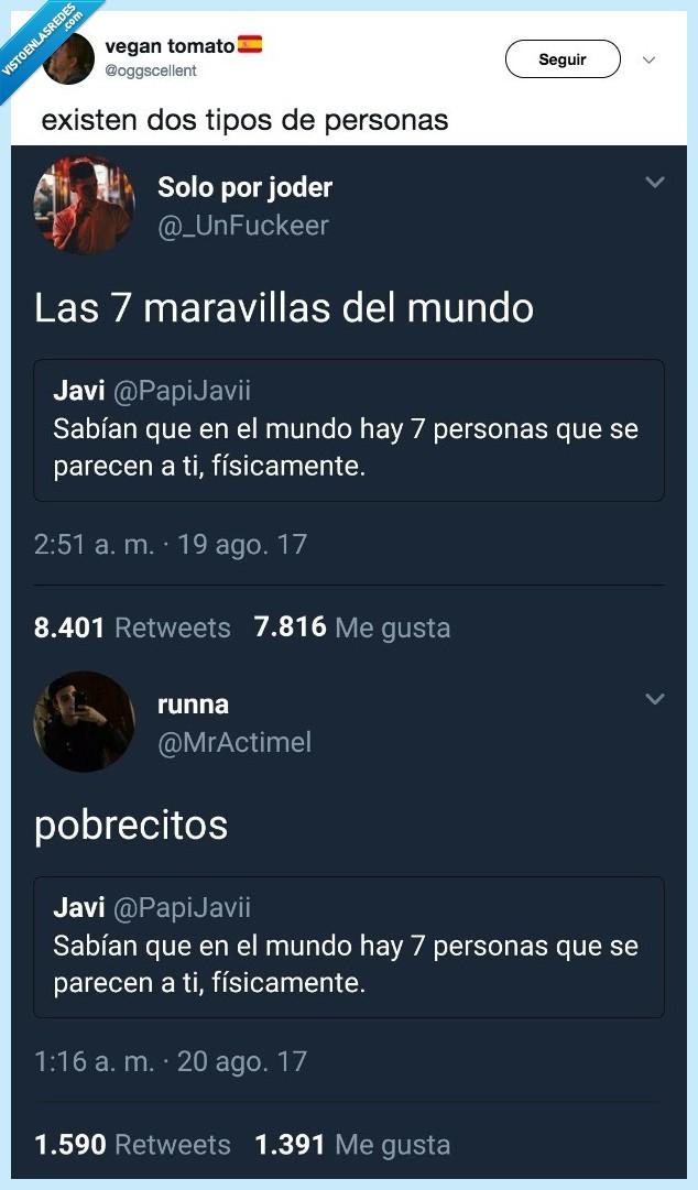 2 tipos de personas,quien eres,tuit