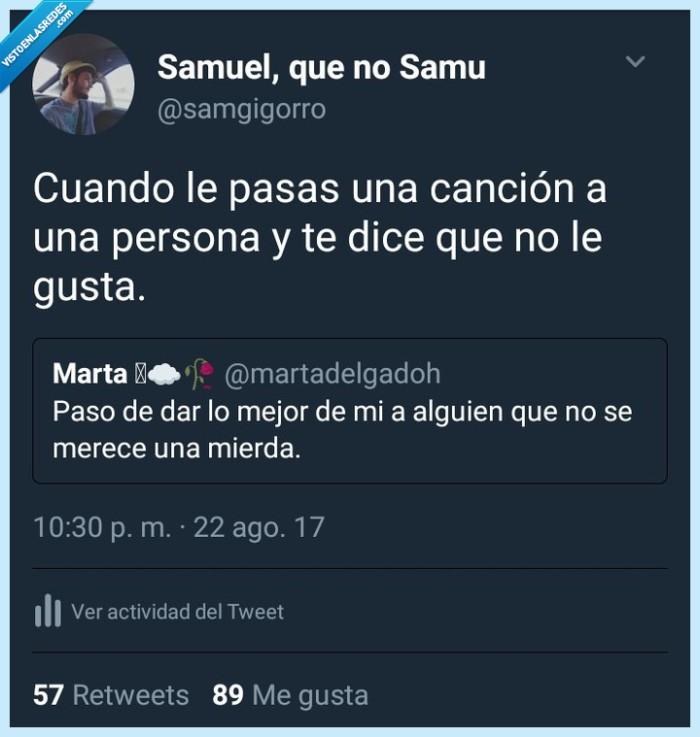 Canción,Twitter