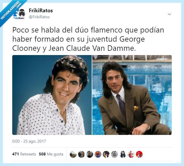 clooney,flamenco,juventud,van damme