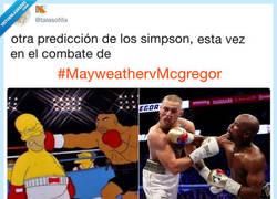 Enlace a Los Simpsons ya predijeron el combate, por @talasofilix
