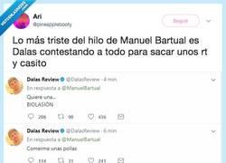Enlace a Dalas pierde la dignidad en Twitter comentando el hilo de Manuel