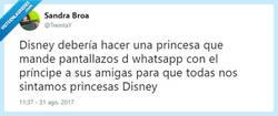 Enlace a Todas tenemos derecho a sentirnos princesas Disney, por @TreintaY
