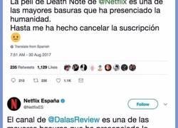 Enlace a Netflix se corona con el pedazo de tuit que le dedica a Dalas,
