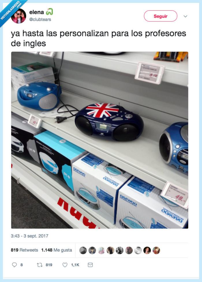casette,inglés,personalizar