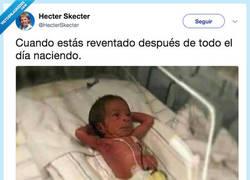 Enlace a NACER CANSADO, por @HecterSkecter