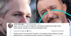 Enlace a Assange vs. Reverte: El duelo de guantazos empieza después de un tuit sobre Catalunya
