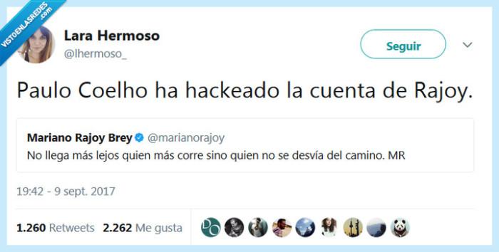 hackear,paulo cohelo,rajoy