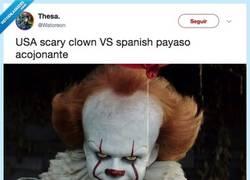 Enlace a EL USA VS. SPAIN DEFINITIVO: Descubren quien sería el payaso de IT y lo han clavado, por @Watoreon