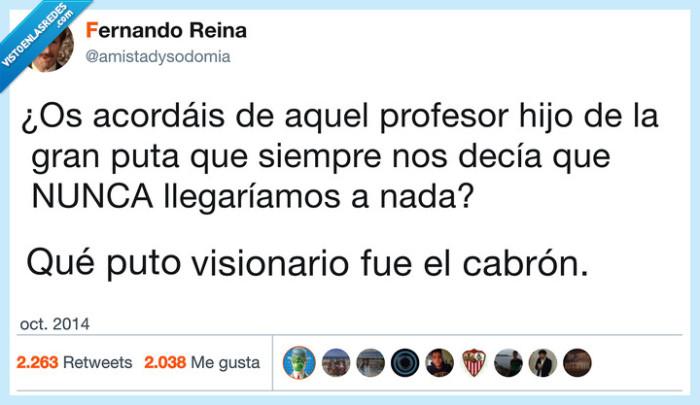 caso,clavar,futuro,profesor