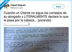 Enlace a Para que quiere abogado si al final dice lo que le salga de la p*lla, por @dieguez_miguel