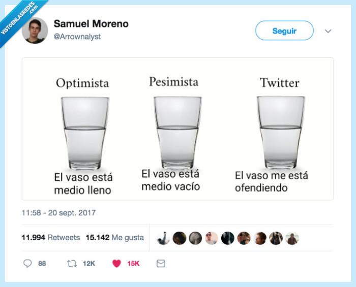 agua,twitter,vaso