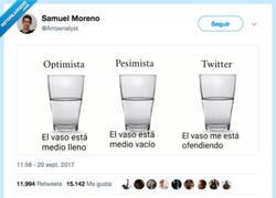 Enlace a El vaso de agua y Twitter, por @Arrownalyst