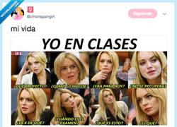 Enlace a Si Lindsay Lohan hiciese una película sobre mi vida en clase, por @cmonspaingirl