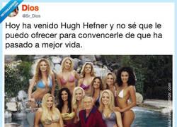 Enlace a Hugh Hefner ya vivió en el paraíso, por @Sr_Dios