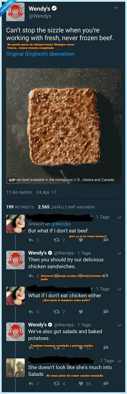 chica,hamburguesa,trollear