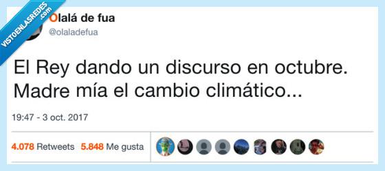 cambio climático,discurso,rey