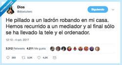 Enlace a Gran papel el del mediador, por @diostuitero