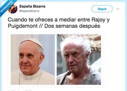 Enlace a El papa se ha ofrecido a mediar, por @espanabizarra