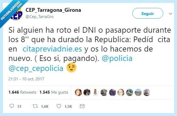 dni,pasaporte,policía