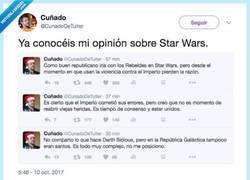 Enlace a Cuando eres fan de Star Wars y lo utilizas para hablar de la independencia, por @CunadoDeTuiter