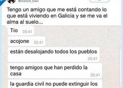 Enlace a La desgarradora conversación que cuenta este chico sobre la catástrofe de Galicia, por @overlord_ede