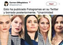 Enlace a El insultante tuit que publica Fotogramas sobre el acoso se xual a estas actrices de Hollywood